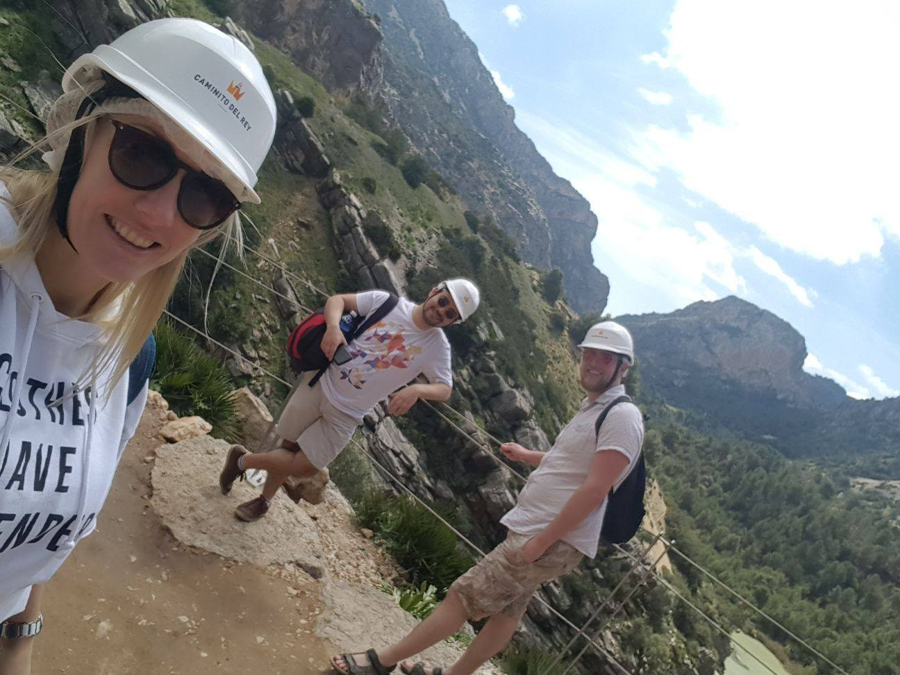 Our wonderful Trio tackling the Camino del Rey, Malaga - Not for the faint hearted Image