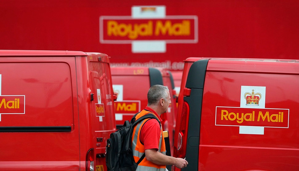 Royal Mail postal service from the UK or Internationally Image